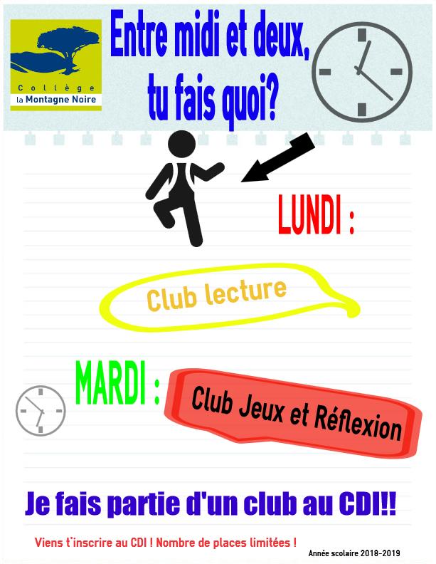 Les clubs du CDI